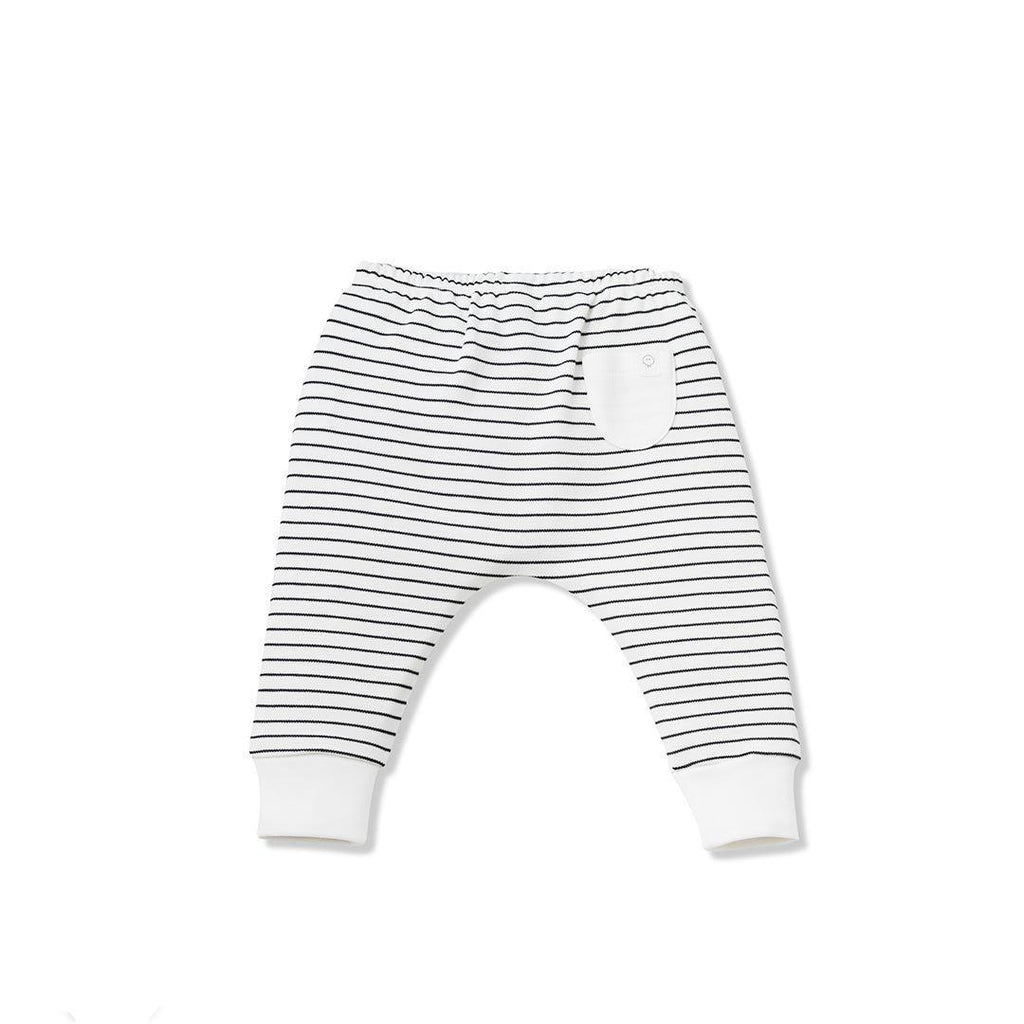MORI Yoga Pants - Grey Stripe-Pants- Natural Baby Shower