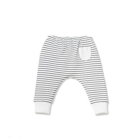 Baby Mori Yoga Pants Grey Stripe