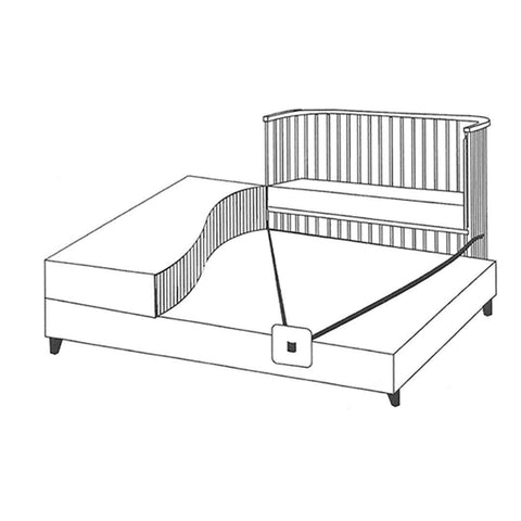 BabyBay Boxspring - White-Cribs-Default- Natural Baby Shower