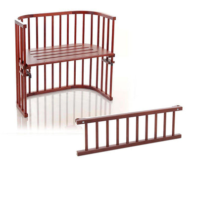 BabyBay Bedside Crib + Side Rail - Original - Dark Brown-Cribs-Default- Natural Baby Shower