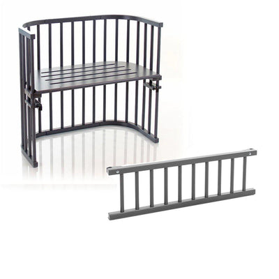 BabyBay Bedside Crib + Side Rail - Original - Grey-Cribs-Default- Natural Baby Shower