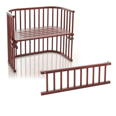 BabyBay Bedside Crib + Side Rail - Maxi - Dark Brown-Cribs-Default- Natural Baby Shower