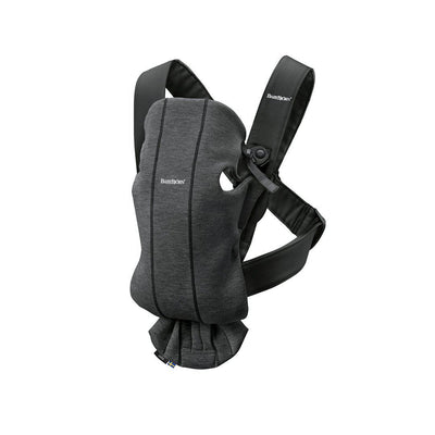 BabyBjorn 3D Jersey Mini Baby Carrier - Charcoal Grey-Baby Carriers-Charcoal Grey- Natural Baby Shower
