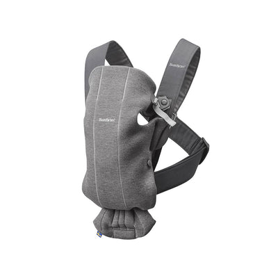 BabyBjorn 3D Jersey Mini Baby Carrier - Dark Grey-Baby Carriers-Dark Grey- Natural Baby Shower