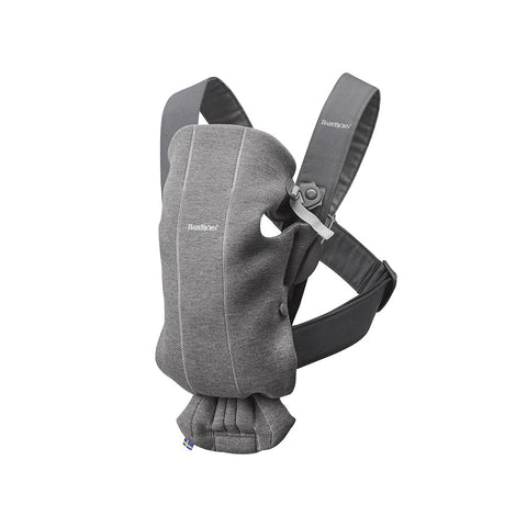 BabyBjörn 3D Jersey Mini Baby Carrier - Dark Grey-Baby Carriers-Dark Grey- Natural Baby Shower