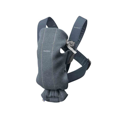 BabyBjorn 3D Jersey Mini Baby Carrier - Dove Blue-Baby Carriers-Dove Blue- Natural Baby Shower