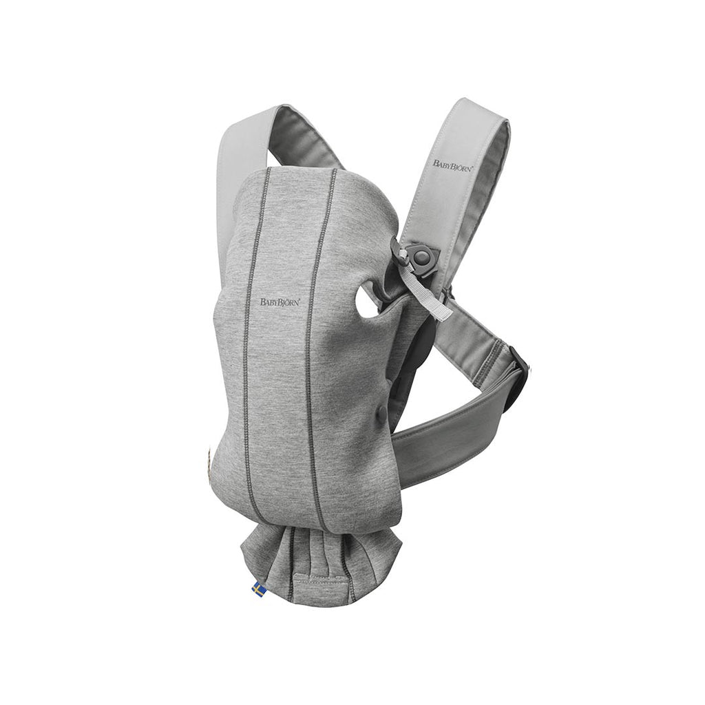 BabyBjörn 3D Jersey Mini Baby Carrier - Light Grey-Baby Carriers-Light Grey- Natural Baby Shower