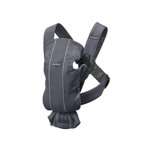 BabyBjörn 3D Mesh Mini Baby Carrier - Anthracite-Baby Carriers-Anthracite- Natural Baby Shower