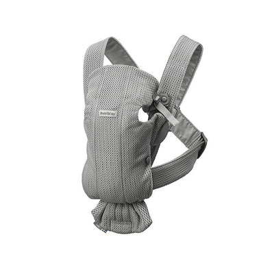 BabyBjorn 3D Mesh Mini Baby Carrier - Grey-Baby Carriers-Grey- Natural Baby Shower