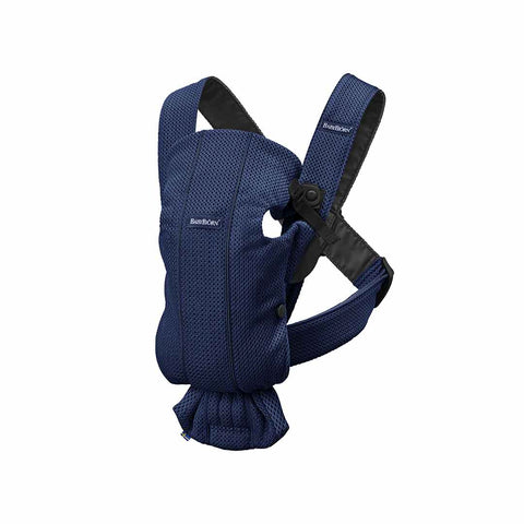 BabyBjörn 3D Mesh Mini Baby Carrier - Navy Blue-Baby Carriers-Navy Blue- Natural Baby Shower