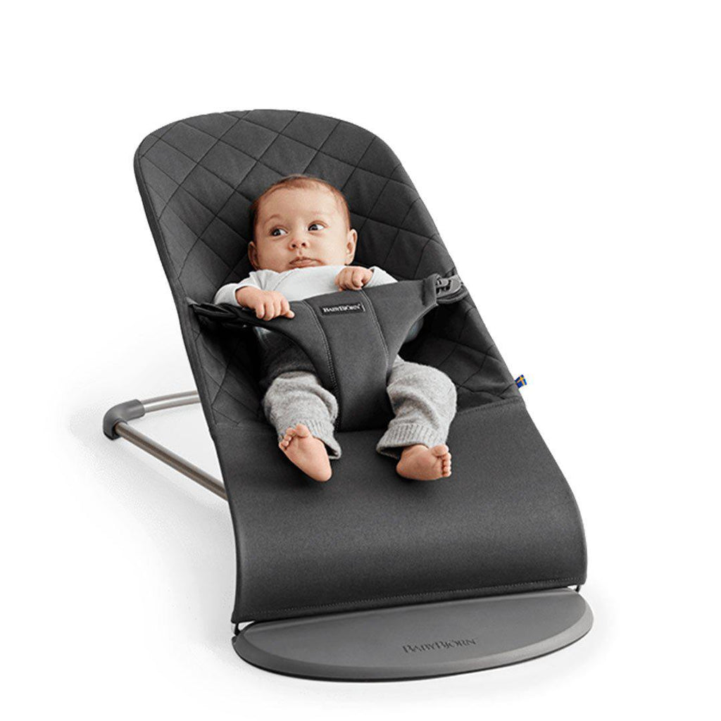BabyBjörn Baby Bouncer Bliss - Anthracite Cotton-Baby Bouncers- Natural Baby Shower