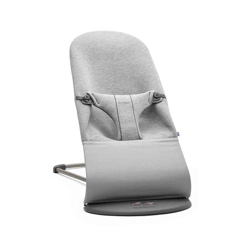 BabyBjorn Baby Bouncer Bliss - Light Grey 3D Jersey-Baby Bouncers- Natural Baby Shower