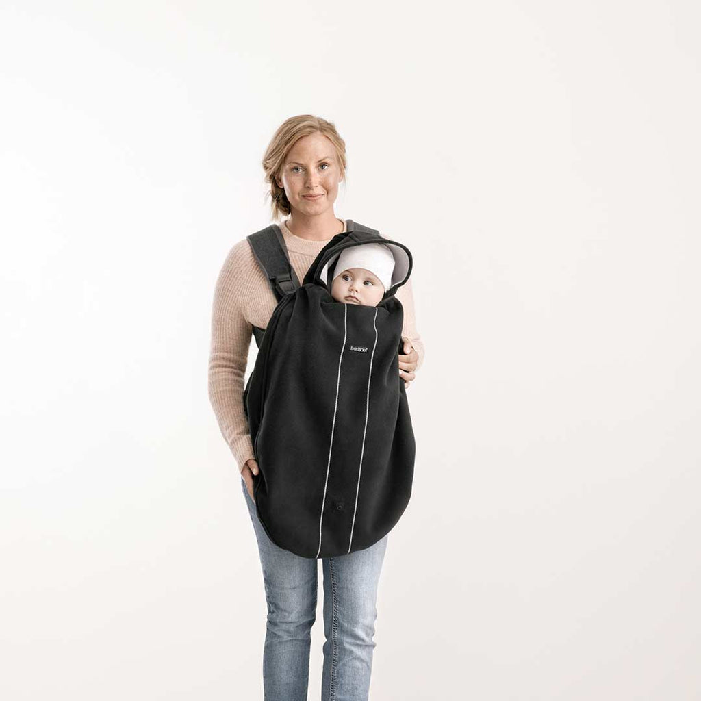 BabyBjörn Baby Carrier Cover-Baby Carrier Covers-Black- Natural Baby Shower