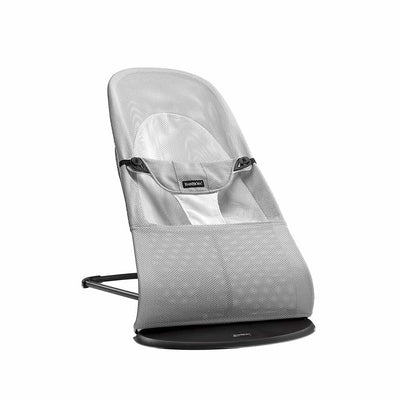 BabyBjorn Balance Soft Baby Bouncer - Silver/White Mesh-Baby Bouncers- Natural Baby Shower