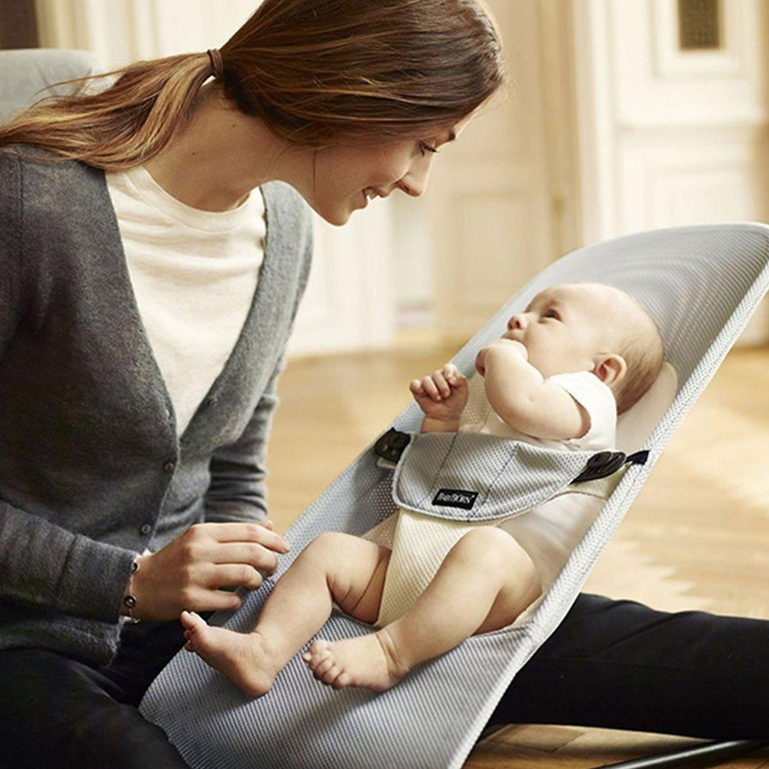 6132f1a511d BabyBjörn Balance Soft Baby Bouncer in Silver White Mesh – Natural Baby  Shower