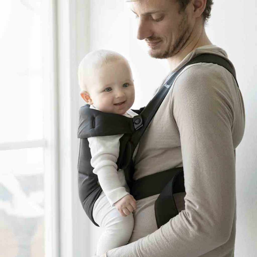 7ec0dffcf03 ... BabyBjörn Cotton Mini Baby Carrier - Black-Baby Carriers-Black- Natural  Baby Shower