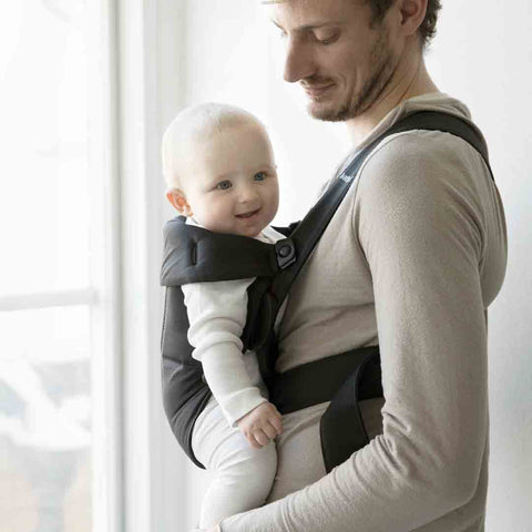 BabyBjörn Cotton Mini Baby Carrier - Black-Baby Carriers-Black- Natural Baby Shower