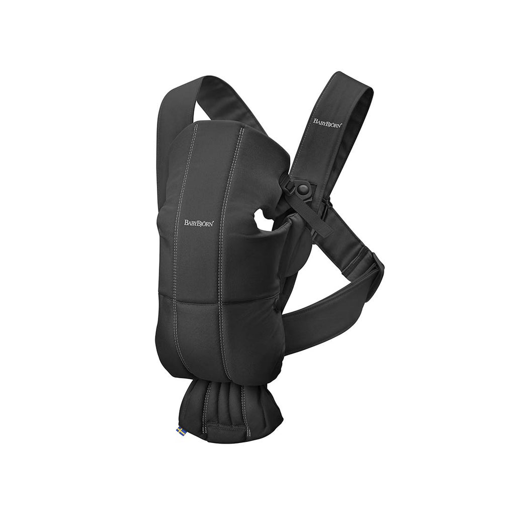 86e6a9f3f79 BabyBjörn Cotton Mini Baby Carrier - Black-Baby Carriers-Black- Natural  Baby Shower ...