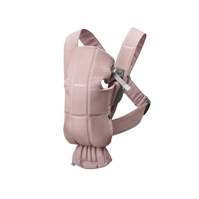 BabyBjorn Cotton Mini Baby Carrier - Dusty Pink-Baby Carriers-Dusty Pink- Natural Baby Shower