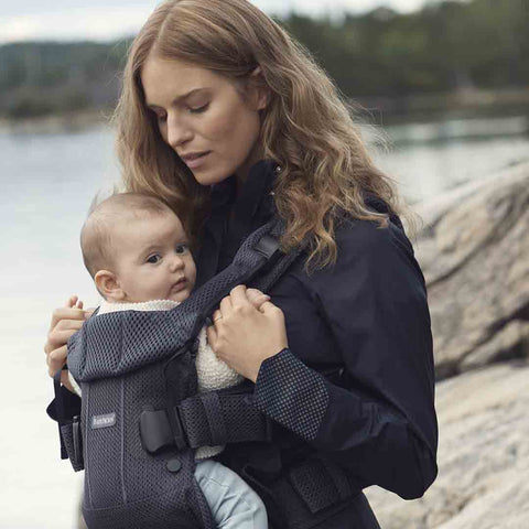 BabyBjörn One Air Baby Carrier - Anthracite-Baby Carriers-Anthracite- Natural Baby Shower