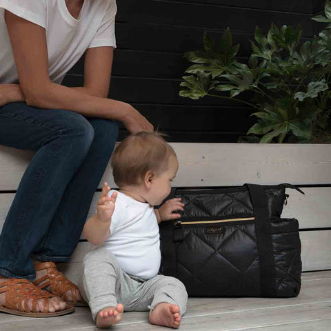 Babymel Cara Ultra Lite Changing Bag - Black Quilt-Changing Bags- Natural Baby Shower