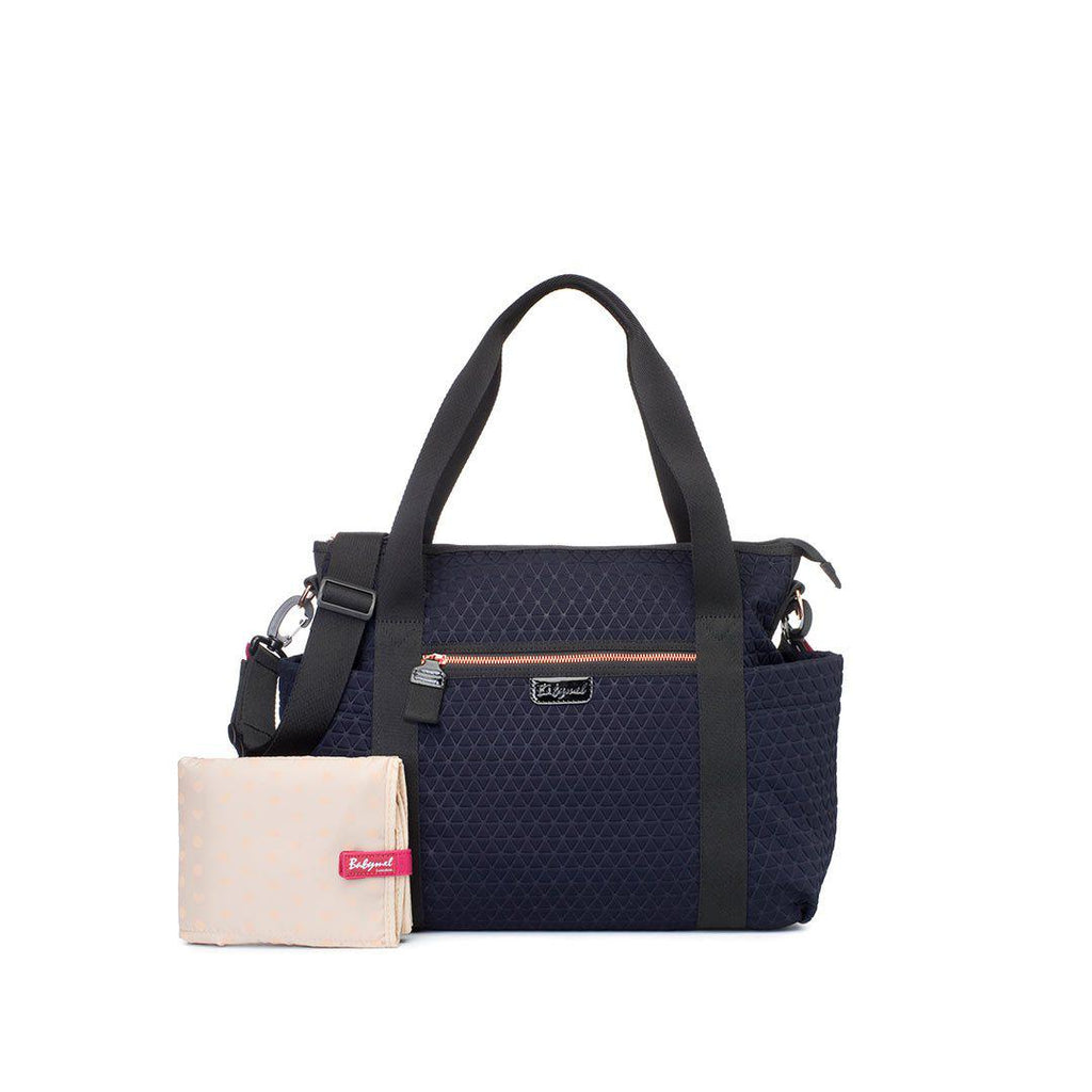 Babymel Cara Ultra Lite Changing Bag - Navy Scuba Emboss-Changing Bags- Natural Baby Shower