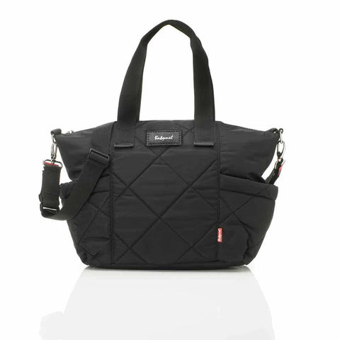 Babymel Changing Bag - Evie Quilted - Black-Changing Bags- Natural Baby Shower