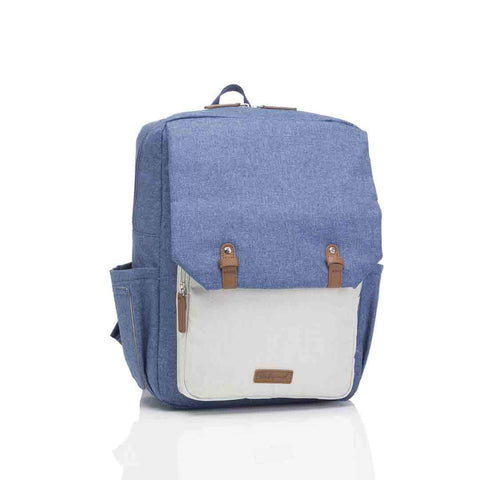Babymel Changing Bag - George - Mid Blue/Oatmeal
