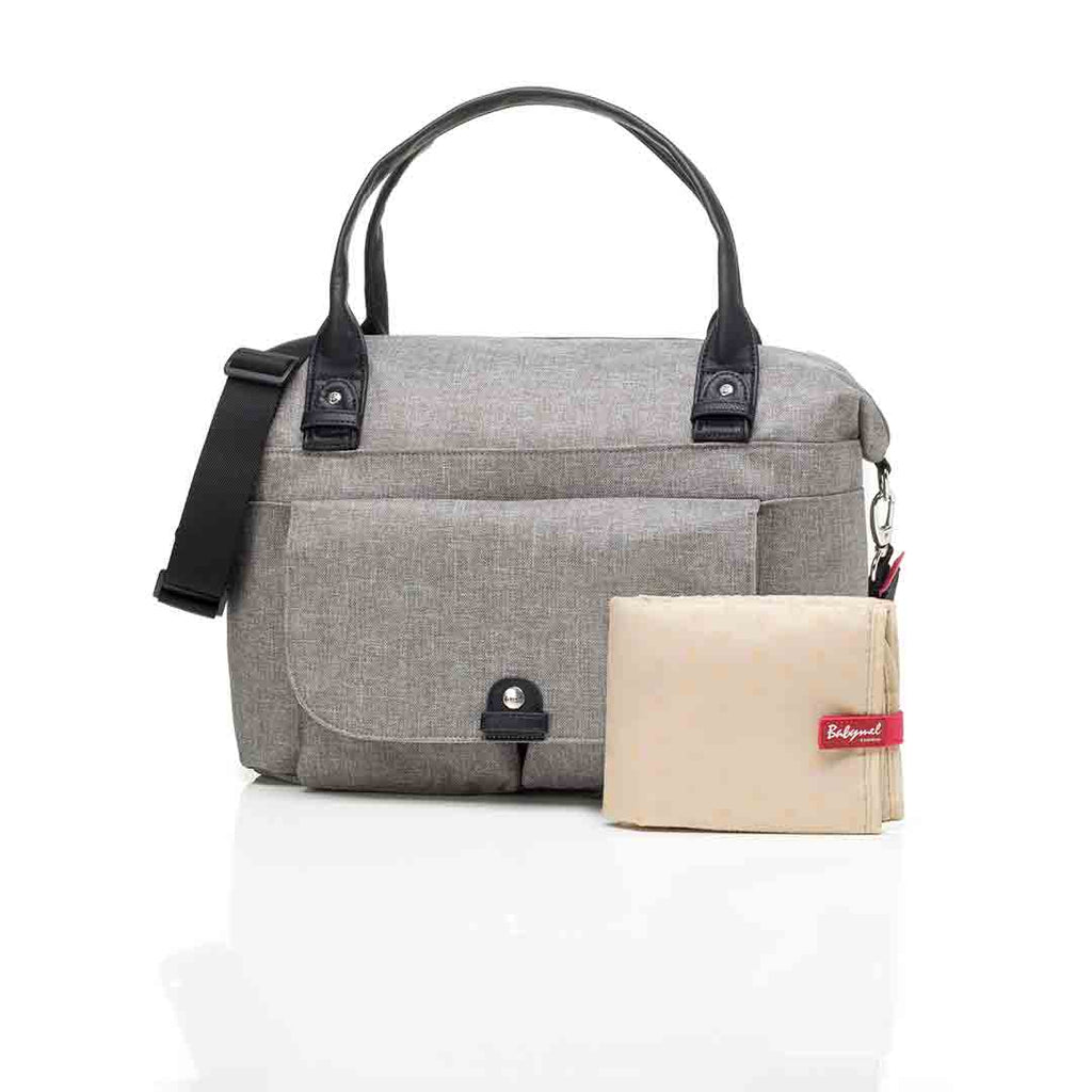 Babymel Changing Bag - Jade - Grey-Changing Bags- Natural Baby Shower