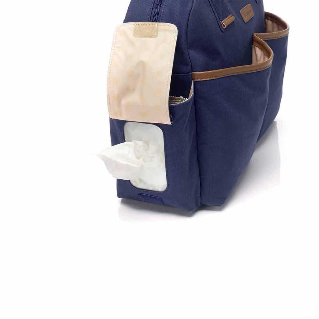 Babymel Changing Bag - Jesse - Navy Wipes