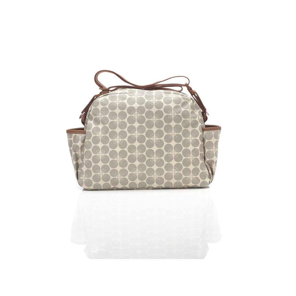 Babymel Changing Bag - Molly - Grey Floral Dot Back