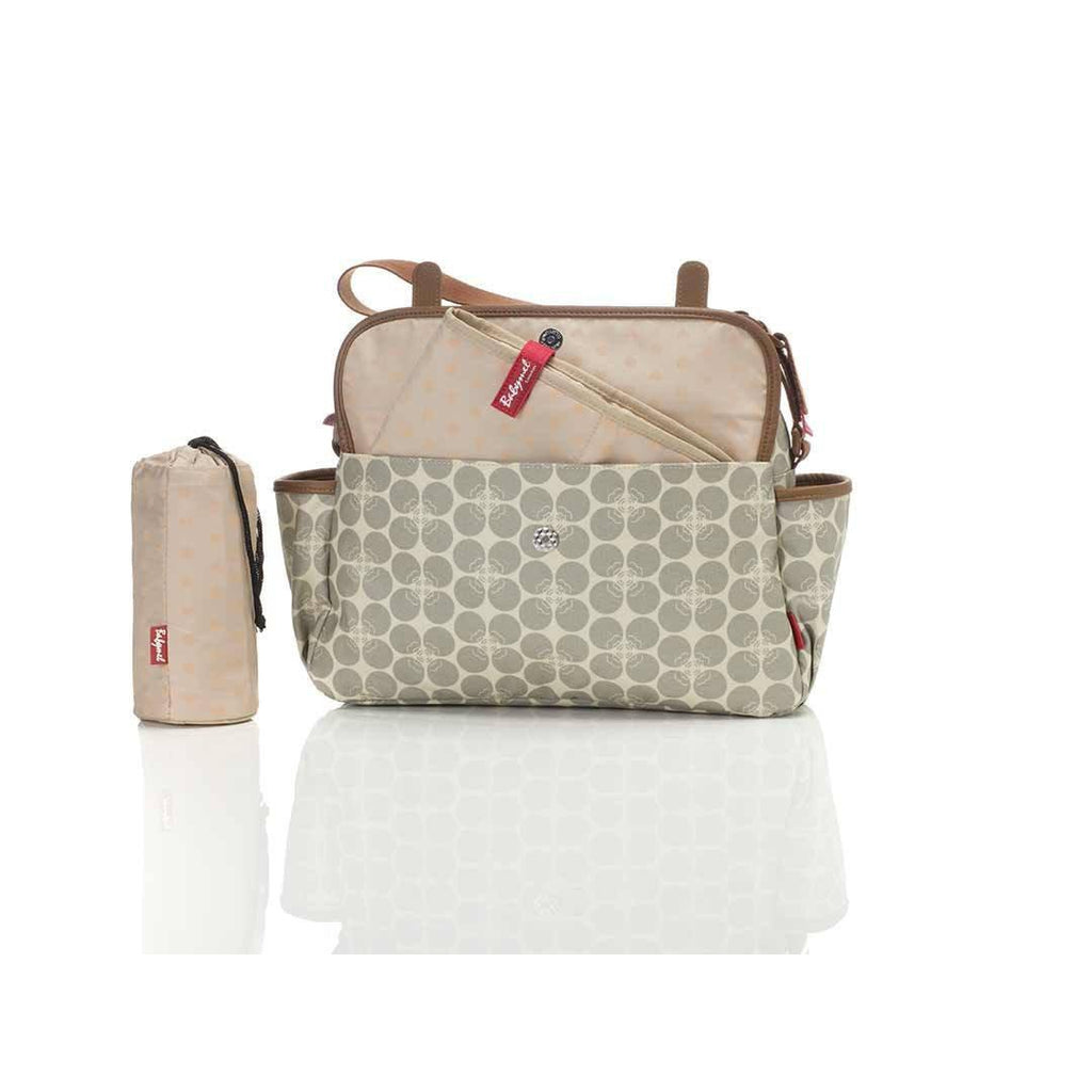 Babymel Changing Bag - Molly - Grey Floral Dot Pocket