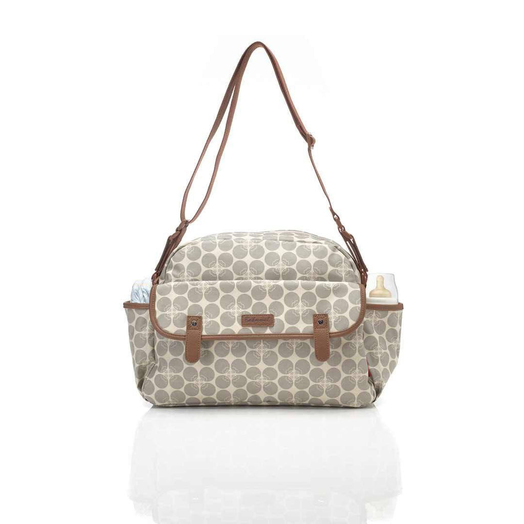 Babymel Changing Bag - Molly - Grey Floral Dot Strap