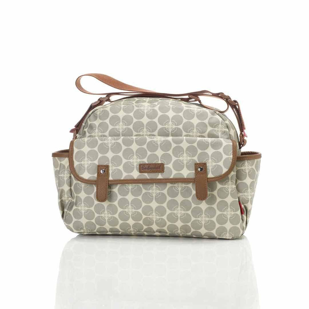 Babymel Changing Bag - Molly - Grey Floral Dot Front