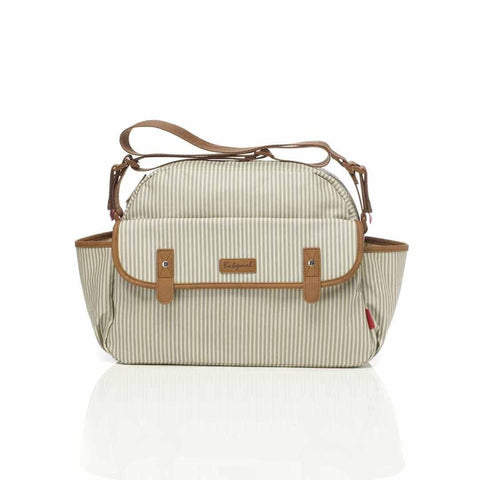 Babymel Changing Bag - Molly - Grey Stripe-Changing Bags- Natural Baby Shower