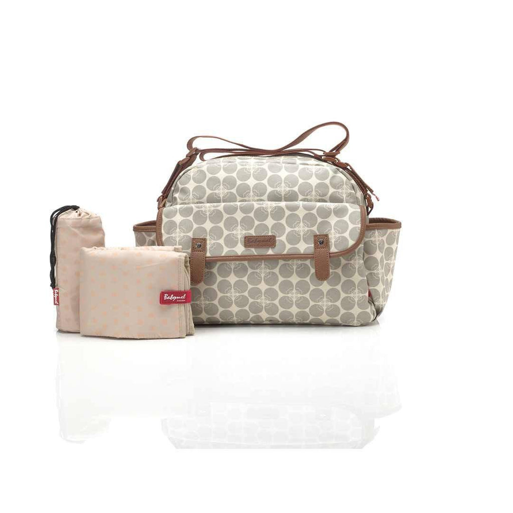 Babymel Changing Bag - Molly - Grey Floral Dot
