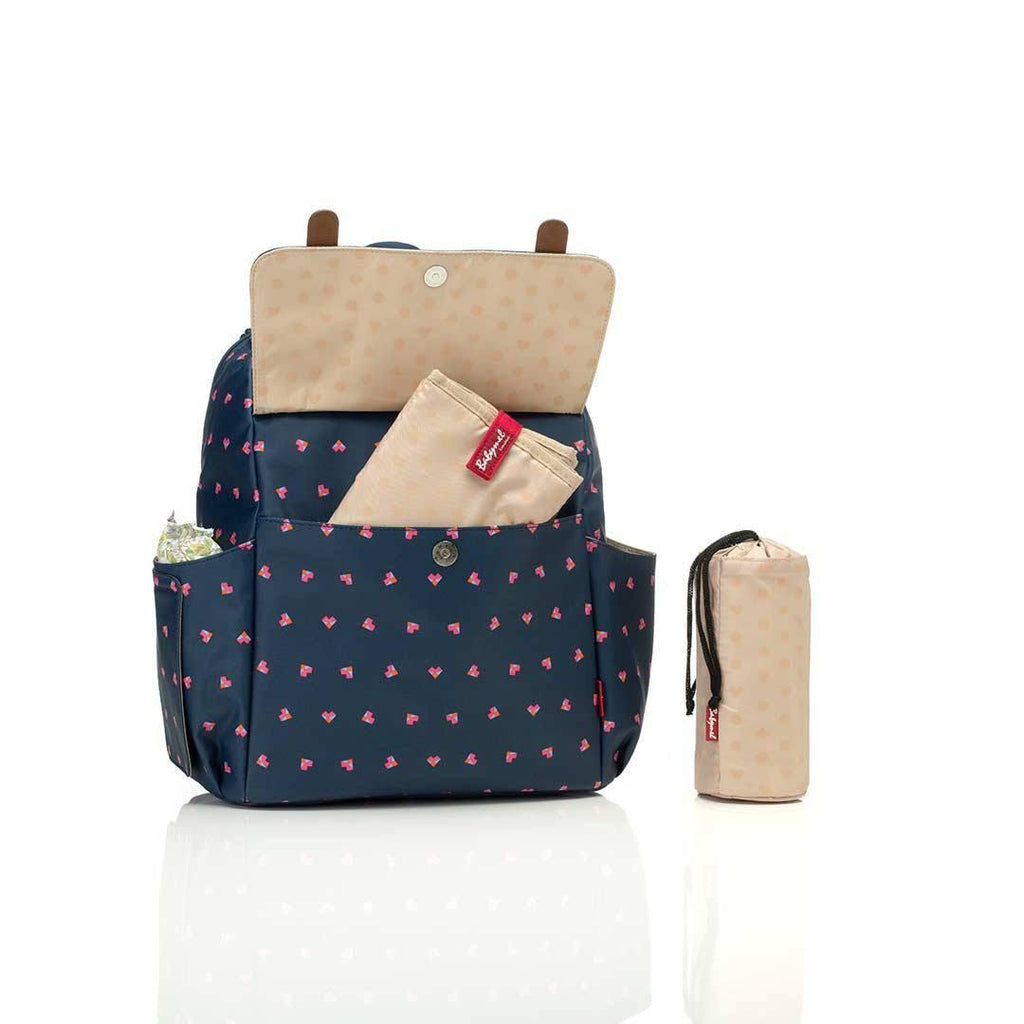 Babymel Changing Bag - Robyn - Navy Origami Heart Pocket
