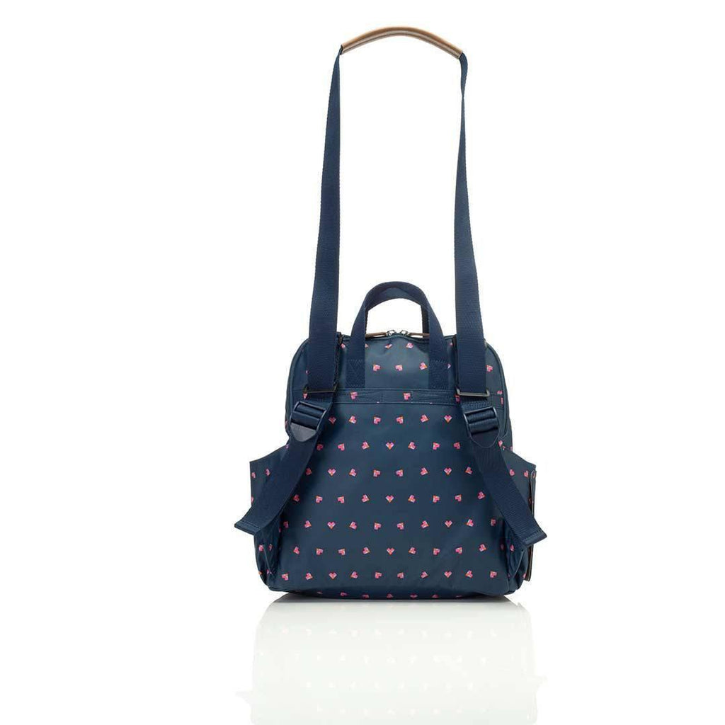 Babymel Changing Bag - Robyn - Navy Origami Heart Back