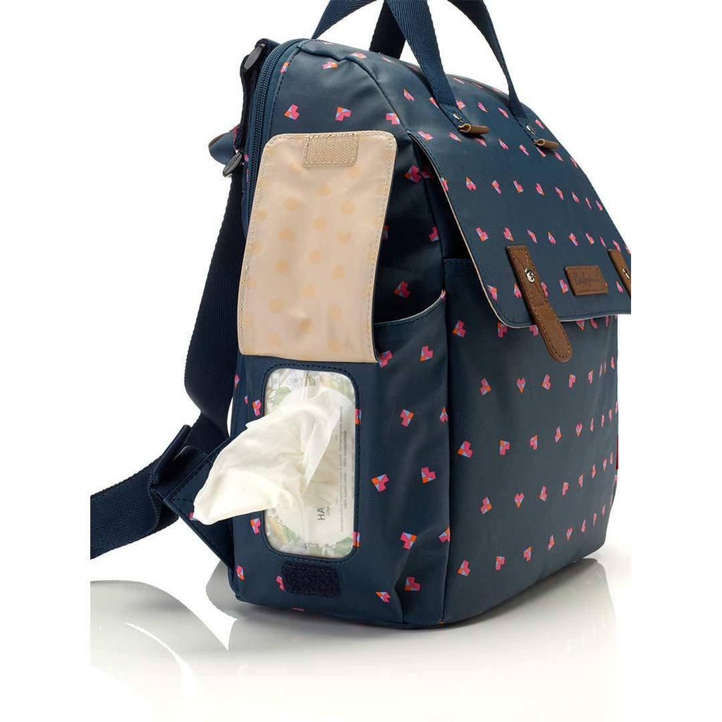 Babymel Changing Bag - Robyn - Navy Origami Heart Wipes