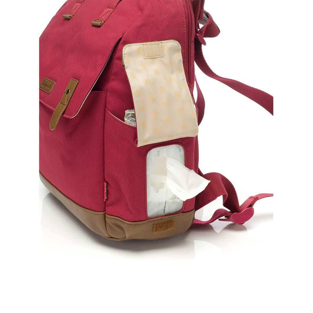 Babymel Changing Bag - Robyn - Red-Changing Bags- Natural Baby Shower