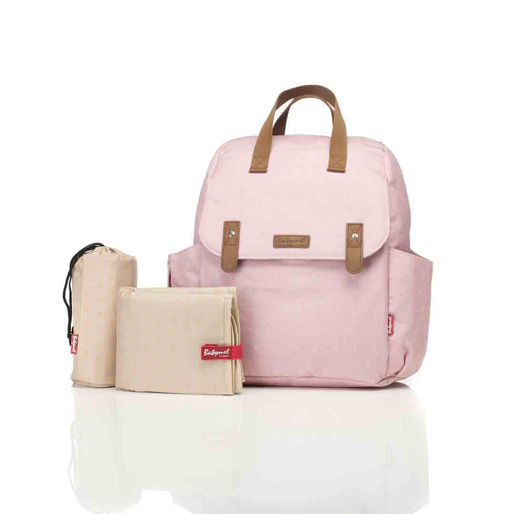 Babymel Changing Bag - Robyn Convertible Backpack - Dusty Pink 1