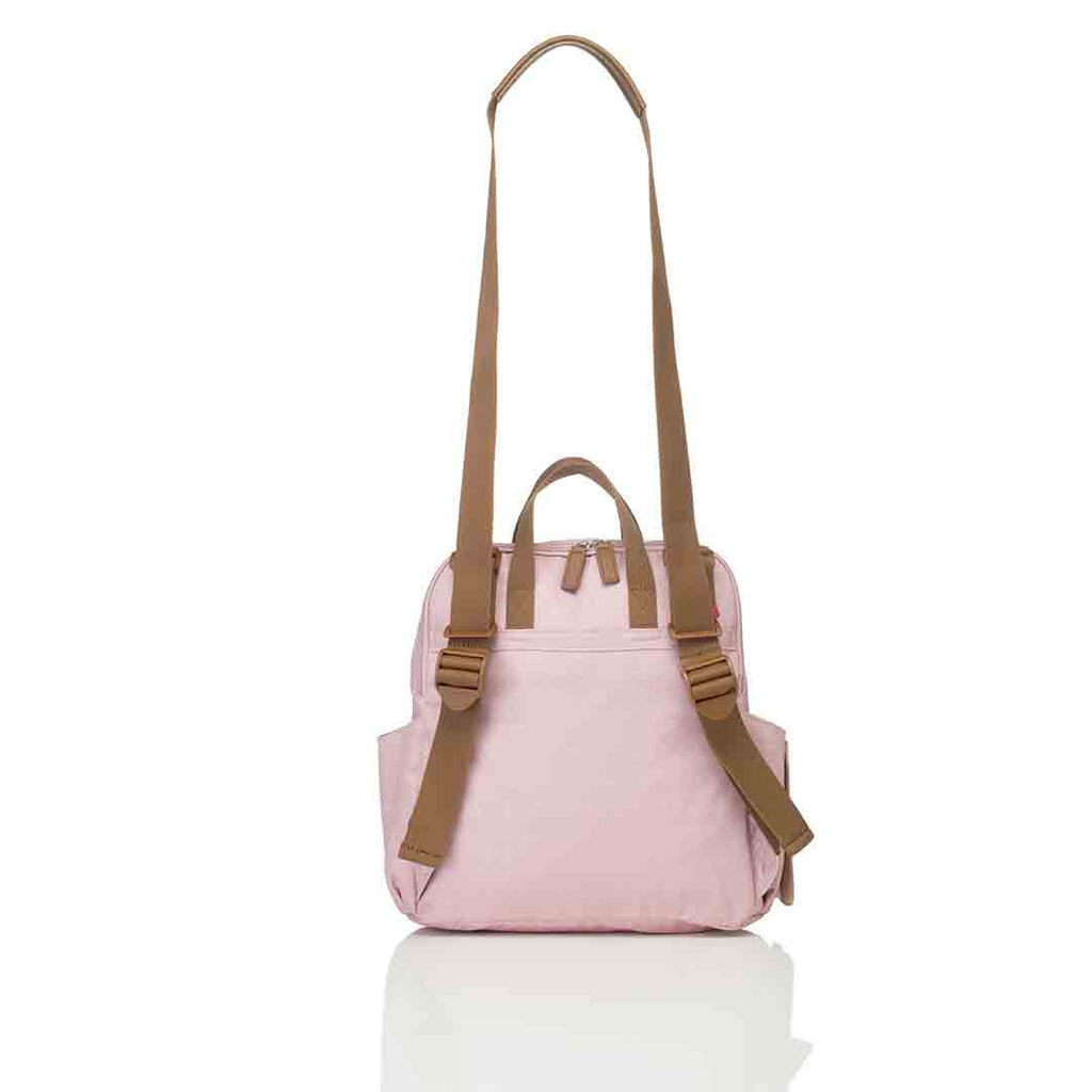 Babymel Changing Bag - Robyn Convertible Backpack - Dusty Pink 6
