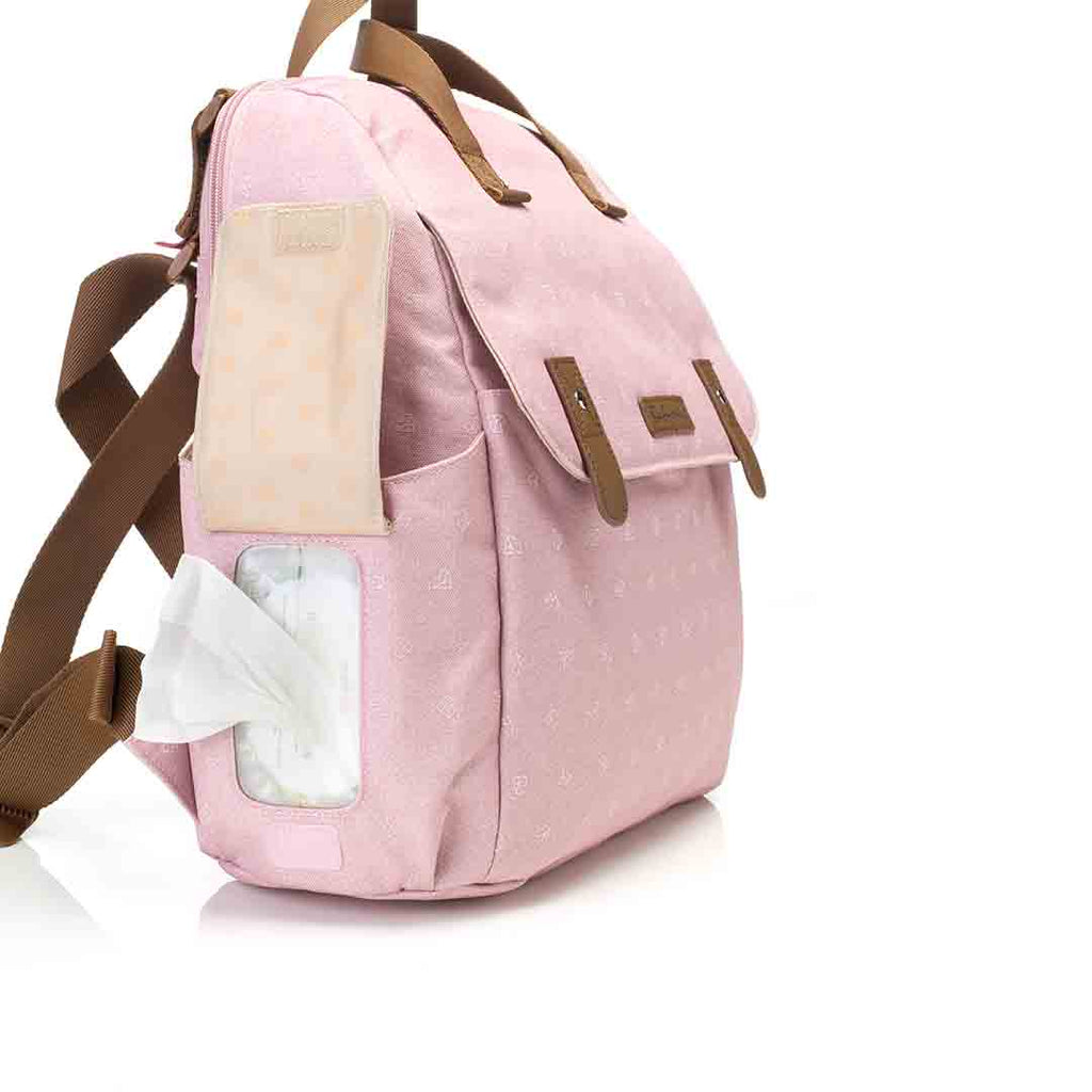 Babymel Changing Bag - Robyn Convertible Backpack - Dusty Pink 9