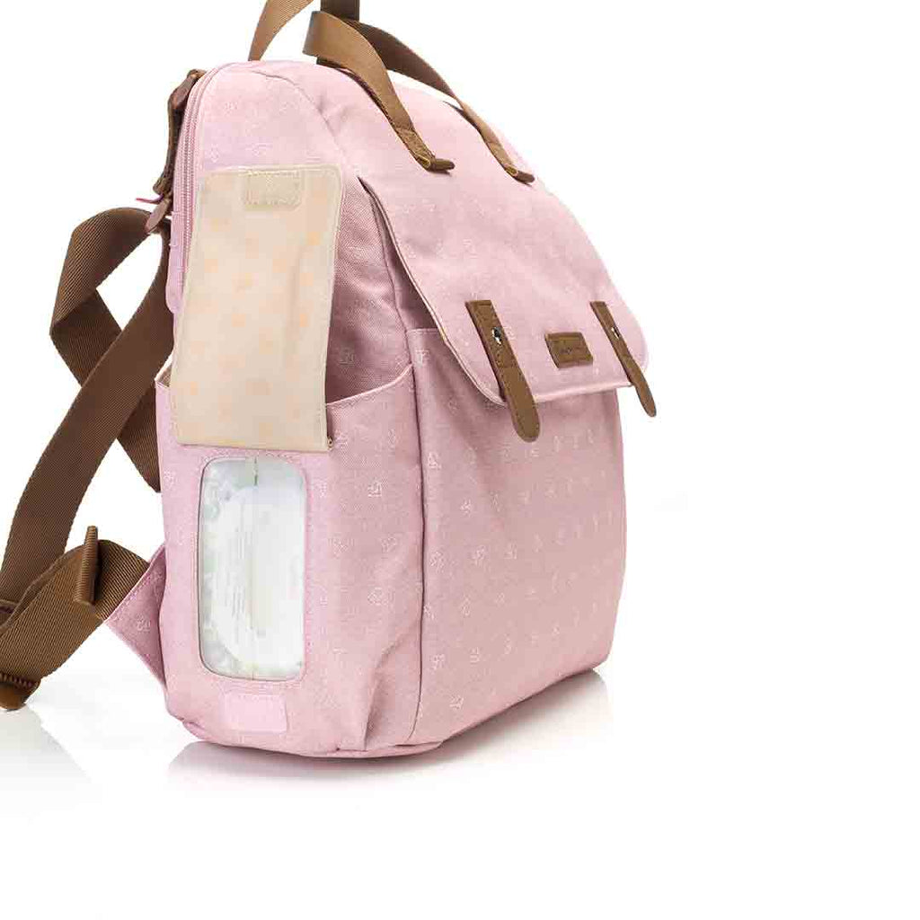 Babymel Changing Bag - Robyn Convertible Backpack - Dusty Pink 8