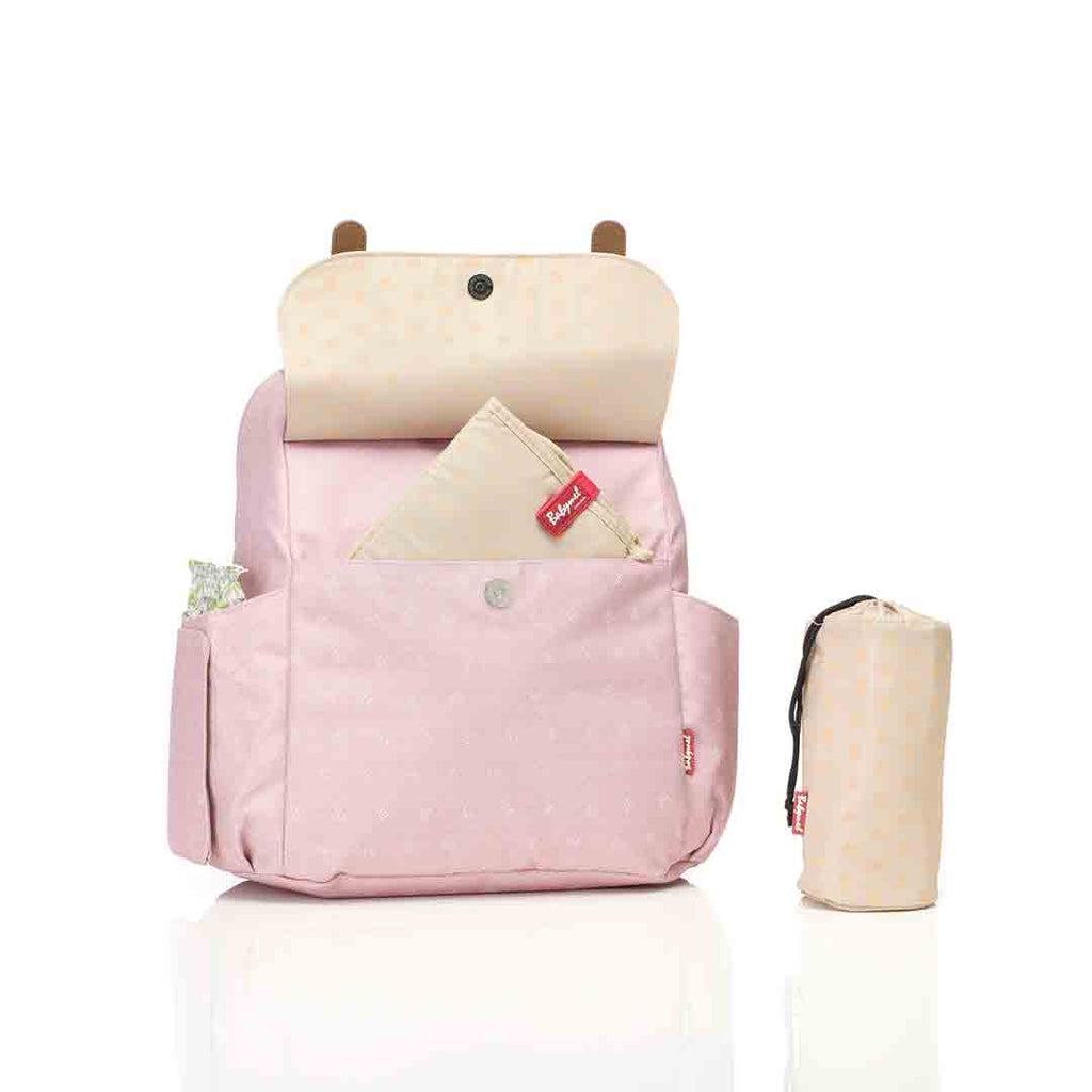Babymel Changing Bag - Robyn Convertible Backpack - Dusty Pink 2
