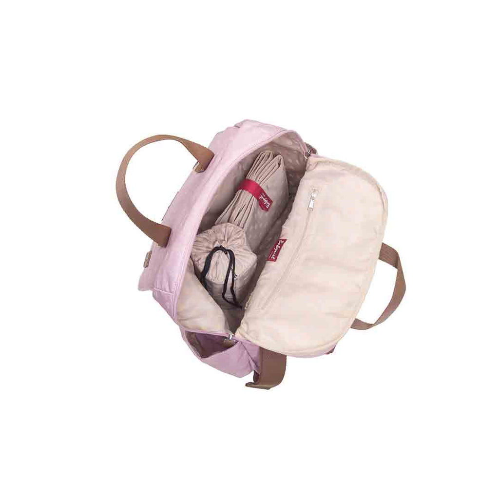Babymel Changing Bag - Robyn Convertible Backpack - Dusty Pink 3