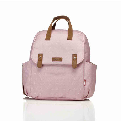 Babymel Changing Bag - Robyn Convertible Backpack - Dusty Pink