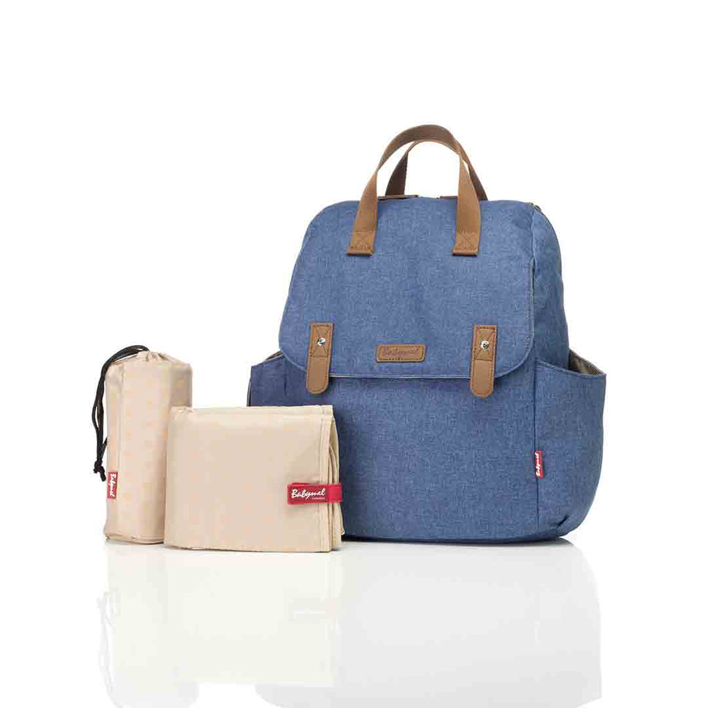 0468c550aaa ... Babymel Changing Bag - Robyn Convertible Backpack - Mid Blue-Changing  Bags- Natural Baby ...