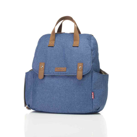 Babymel Changing Bag - Robyn Convertible Backpack - Mid Blue