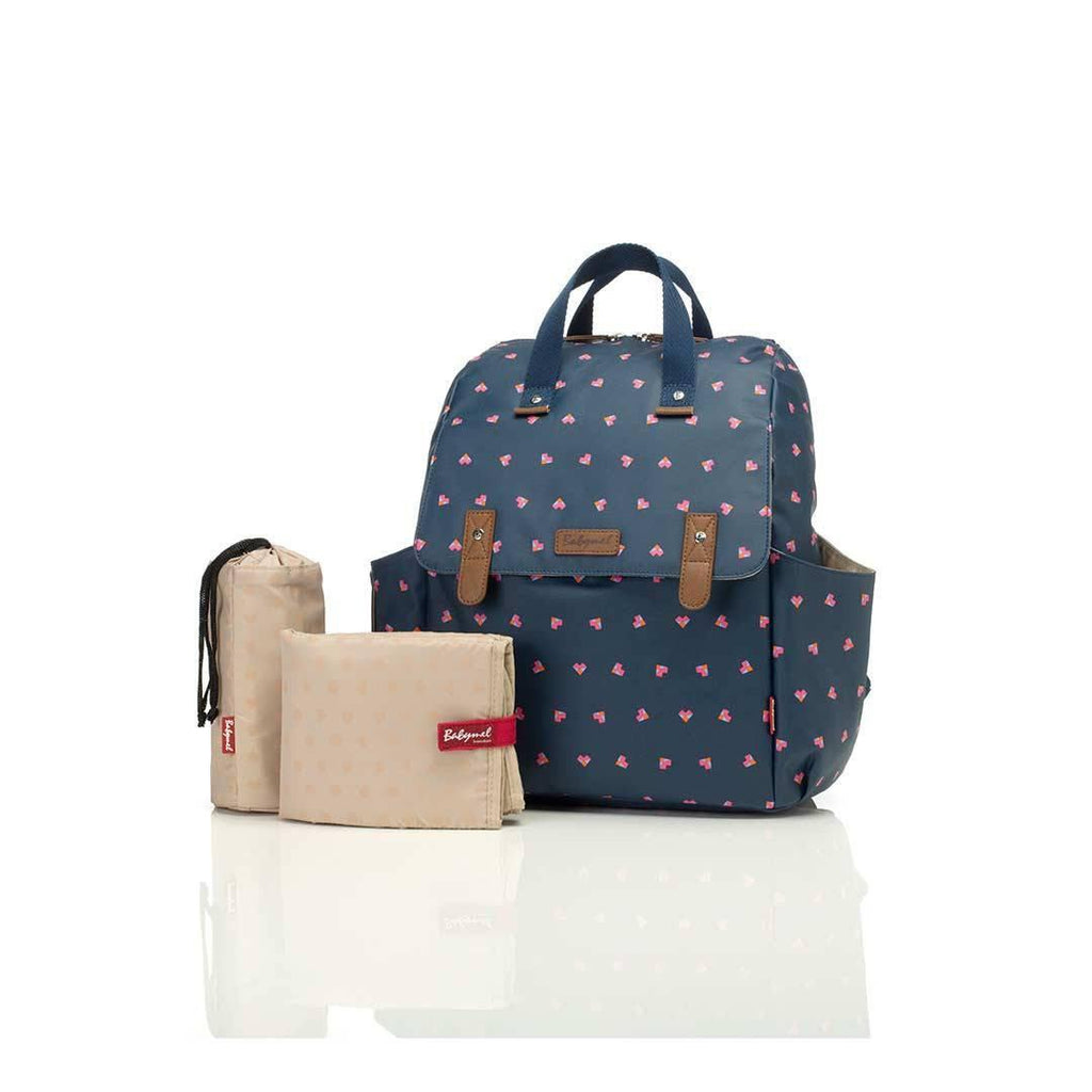 Babymel Changing Bag - Robyn Navy Origami Heart